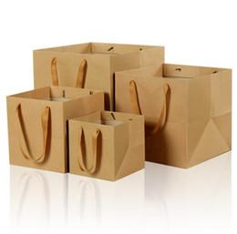 Sacchetto di carta da imballaggio di fiori di frutta bonsai con manico sacchetto di carta regalo fondo quadrato kraft SN1350