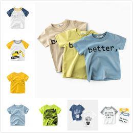 f3beb6bb046c5c Cheap Summer Baby Boys Kids Tops Tees Excavator Cactus Better Cute Mercy  Printing T-shirts Clothing 90cm-140cm