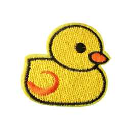 $enCountryForm.capitalKeyWord Canada - Embroidered cloth patch 5cm * 5cm Cartoon duck appliques Back gum Iron sewing decorative patch kids T-shirt jeans accessories DL_CPIA028