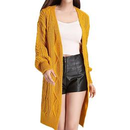 d937459c08 New Women Long Cardigans Autumn Winter Open Stitch Poncho Knitting Sweater  Cardigans V Neck Oversized Cardigan Jacket Coat
