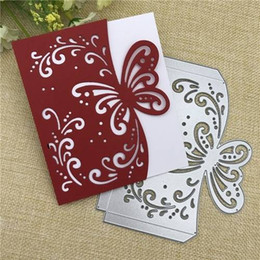China Butterfly envelope greeting card Metal Cutting Dies Stencil Scrapbooking Photo Album Card Paper Embossing Craft DIY Christmas Birthday gift suppliers