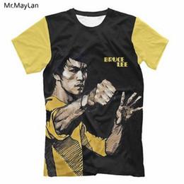 4e4fbde5fe0daa Kung Fu T Shirts Canada - 3D Print Chinese Martial Art Bruce Tshirt Women  Men Hiphop