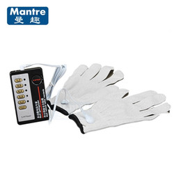 Fiber Sex NZ - Electrical Shock Silver Fiber Therapy Gloves Body Massager Slimming Electro Sex Products Kit For Adult Women And Men Y18110801
