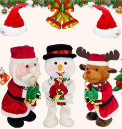 31a9ef326ad52 Christmas danCing santa online shopping - Christmas Electric Plush Toys AA  Battery Santa Claus Snowman Hat