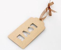 Бирки бумаги крафт-бумаги 500 x ЛЮБОВЬ, бирки подарка / бирки вида 4.7x10cm на Распродаже