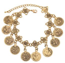luck coins 2019 - Womens Bohemian Style Luck Coin Tassel Bracelet Statement Pendant Turkish Jewelry Tribal Ethnic Jewelry Bracelet Bangle