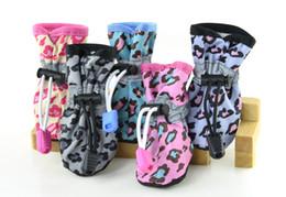$enCountryForm.capitalKeyWord NZ - 4 Pcs Sets Waterproof Dog Shoes Reflective Anti Slip Rain Boots Adjustable Winter Warm Socks Sneaker Paw Protec 7 Size Dog Shoes