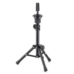 Practice hair head online shopping - Pro Salon Adjustable Tripod Stand Clamp Two Layers Aluminum Training Mannequin Head Holder Hair Practice Styling Accessories
