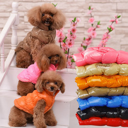 Wholesale padded winter coats sale resale online - Hot sale warm Dog Coat thickening Pet clothing Pets Apparel cotton padded clothes winter Leisure vest T3I0055