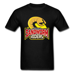 Discount hip hop style clothing for men - Sandworm Riders Logo T Shirt High Quality New Style Fashion Clothing For Men Plus Size Taille Xxxl 2018 Summer Hip Hop T