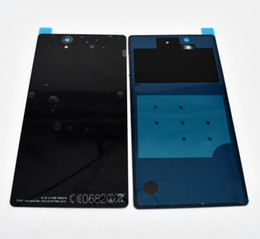 L36h Housing Australia - Free DHL 100pcs For Sony Xperia Z L36H L36 C6603 C6602 Battery Back Cover Rear Door Housing Cover Phone Case Cellphone Battery Cover
