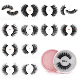 Discount silk strips - Mink Eyelashes 3D False Eyelashes Full Strip Lashes Silk Protein Lashes Soft Natural Thick Fake Eyelashes Eye Lashes Ext
