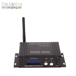 Zita Lighting 2.4G Wireless DMX 512 Controller Bühnenbeleuchtung Sender Empfänger LCD Display Power Einstellbare Repeater Beleuchtung Controller on Sale