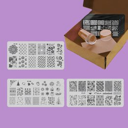 $enCountryForm.capitalKeyWord NZ - New Snowflake Nail Plates Christmas Nails Art Template Stamp Plates Image Stamping Plate Scraper Stamper Set Theme Tree Manicure