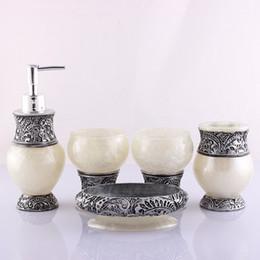 $enCountryForm.capitalKeyWord Australia - Crystal New Fashion European Style 5pcs  Set Bathroom Toilet Products Toothbrush Holder Soap Dish Dispenser Tooth Mug Bathroom Sets