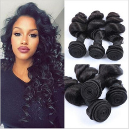 $enCountryForm.capitalKeyWord Canada - Best Quality 8A+ Unprocessed Peruvian Virgin Human Hair Weave Weft Extensions Loose Wave Curly 3 Bundles Lot Natural Black 10-30'' In Stock