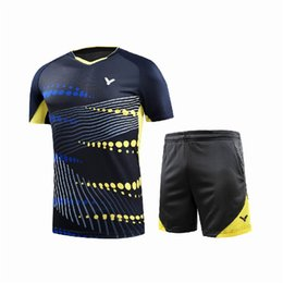 China VICTOR Badminton Jersey Suit,Tennis Shirts Clothes,Badminton Tennis competition attire,Breathable shorts Sport sportswear Tennis T-Shirts cheap competition clothing suppliers