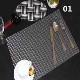 Kitchen Place Mats Australia - Hot Sale !!!! 5PCS Set 8 styles Table Placemat Kitchen Tools Tableware Pad Coaster Coffee Tea Drinks Place Mat 45*30cm Fashion Modern PVC