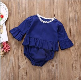 toddler clothing sizes 2019 - Kids Rompers Ins Lace ruffle Girls Rompers Girl Flutter Sleeve Jumpsuits Toddler Fashion Onesies Newborn Tutu Bodysuits