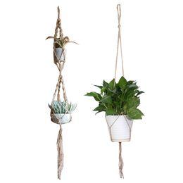 China 2017 Macrame Plant Hanger Pot Holder Polypropylene Fiber Rope Handmade Garden Home Decoration Flower Plant Display cheap stocking handmade flower suppliers