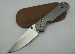 classic knives 2019 - Chris Reeve. CR Dasha Classic 21 D2 (corrugated titanium steel) stone wash blade pocket Knife Hunting Survival Tools Xma