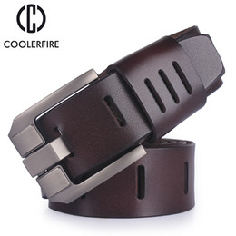 $enCountryForm.capitalKeyWord NZ - cowhide genuine leather belts for men brand male pin buckle jeans cowboy Mens Belt Luxury Designer High Quality Leather belt men C18110601