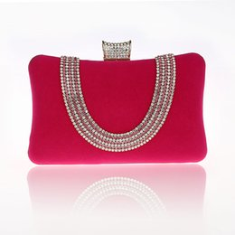 $enCountryForm.capitalKeyWord Australia - 2016 New Design Hot Pink Totes Party Evening Bag Fashion Women's Wallet Style Chain Handbag Clutch Banquet Mini Bag Bolso 7309