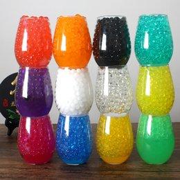 Toptan satış 3 g / torba Kristal Toprak Su Boncuk Renkli Hidrojel Jel Polimer Sihirli Jöle Topu Büyüyen Ampuller Çocuk Oyuncakları Yeşil Bitki Düğün Dekorasyon