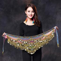 women belly dance belt 2019 - 2017 New style belly dance belt newest multi-color glass silk belly dancing belt scarf crystal bellydance waist chain hi