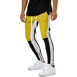 e70c34edf75 LASPERAL Fashion Hip Hop Men Pants Zipper Drawstring Joggers Pants Casual  Fitness Hit Color Slim Trousers Male 3XL Plus Size