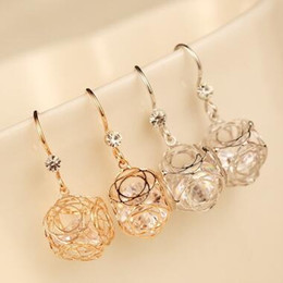 Luxury Jewelry For Sale Canada - Rose Gold Plated Square Hollow Out Dangle Earrings for Women Luxury Zircon Drop Earrings Hot Sale Simple Fashion Party Jewelry Accessories