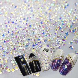 Shiny Rhinestone SS3-SS10 Flat back Octagonal Shape Nail Art Decorations  Glier Rhinestone 3D Clear Crystal AB Color BENC395 991f0ae4d6b3