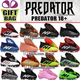 $enCountryForm.capitalKeyWord NZ - Original High Ankle Predator 18 Football Boots Cheap Sale Outdoor Leather Soccer Cleats Socks Trainers Predator 18.1 FG Soccer Shoes For Men