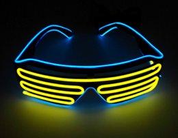 $enCountryForm.capitalKeyWord Australia - Party Led DJ Mask, Quick Flashing EL LED Glasses Luminous Party Lighting Colorful Glowing Classic Toys For Dance DJ, Party Mask