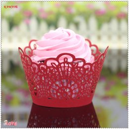 $enCountryForm.capitalKeyWord Australia - 50Pcs Lot Cup Cake Paper Little Vine Lace Laser Cut Cupcake Wrapper Liner Baking Cup Muffin Cake Tools Cake wedding Decor 8ZC24