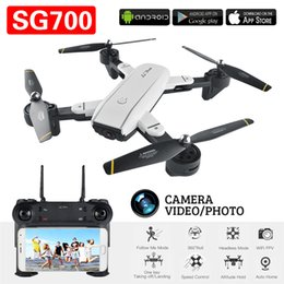 Drones Wifi Camera Australia - SG700 FPV RC Quadcopter RC Drone With 2.0MP Wifi Camera 2.4G 4CH 6-Axis Headless Mode Altitude Hold Foldable RC Helicopter With Retail Box