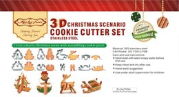 $enCountryForm.capitalKeyWord Australia - 3D DIY stainless steel cookie mould Double sugar cake pan Christmas theme metal cake cutters mould 8 pcs set TC181109
