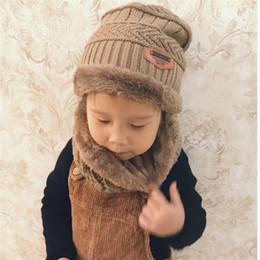 2018 cappello di lana spesso a cupola per bambini più velluto cappello  invernale per bambini caldo sciarpa a due pezzi colletto per ragazzo e  ragazza adatto ... 592b1abf37ae