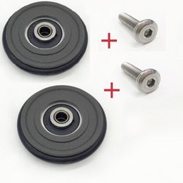 Racks Wheels Australia - 2pcs Easy Wheels 50mm Rear Triangle Shelf Rack Wheel for Brompton bicycle