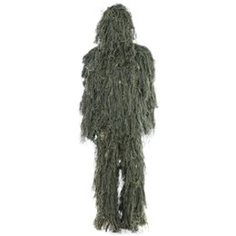 Full hunting camouFlage clothing online shopping - Hunting Woodland Camo Sniper Ghillie Suit Set Camouflage Suits Tactical Camouflage Clothing Hunting Clothes Hunting Accessories