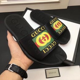b239ef4089d45c Summer Non-slip slippers Flats shoes 207549 Men Slippers Slippers Drivers  Sandals Slides Sneakers Leather Slipper