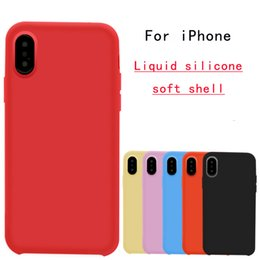$enCountryForm.capitalKeyWord NZ - For iPhone XR liquid silicone phone shell custom official website solid color for Apple XS Max phone accessories protection ip phone case
