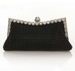 Crystal Diamond Fabrics NZ - medium size Crystal Shinestone women evening bags Purses wedding diamond crossbody bag