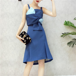d61a090d02 wholesale Womens Dresses New Arrival 2018 Two Piece Set Dress Crop Tops    Pencil Skirt Ladies Elegant OL Style Two Piece Set Skirt