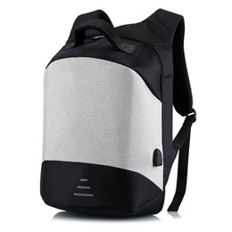 15.6 Inches Laptop Backpacks UK - Men Backpack Business USB Charging Anti Theft 15 .6 inch Laptop Backpack Large Capacity School Bag Male