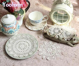 $enCountryForm.capitalKeyWord NZ - Lace cotton crochet table place mat cloth handmade placemat Cup mug coffee party coaster drink doily wedding pad kitchen