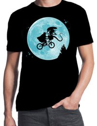 alien movie costumes 2019 - ET Alien Flying BMX Moon Logo Funny Sci-Fi Movie 80's Party Costume BLK T-Shirt cheap alien movie costumes