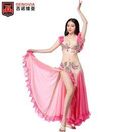 7c8c5830c7 NEW Professional Belly Dance Performance Costume Set Bra Top Skirt Dress  Women Handmade Oriental Belly Dance Costume 2 Pieces