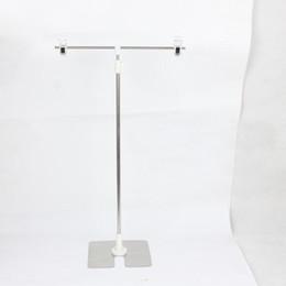T Cartaz Clipe Rack de Aço Inoxidável Promoção de Base de Publicidade Anúncios Pop Banner Display Rack de Mesa Prateleira Stand ZA6921