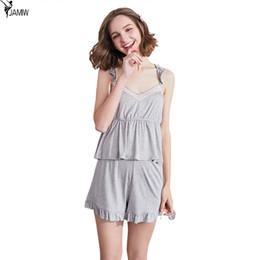 d951b2d11fe2 Sexy sling shorts suit summer new sleeveless shorts pajamas women summer  Korean casual home clothing